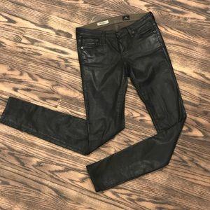 AG leatherette legging jeans sz 25r